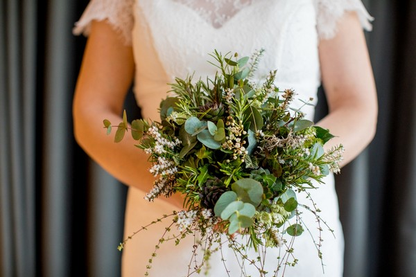 Post foliage wedding bouquet