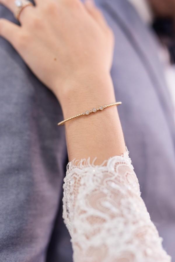 Bracelet on bride's wrist