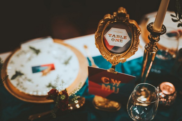1920's carnival style wedding table number