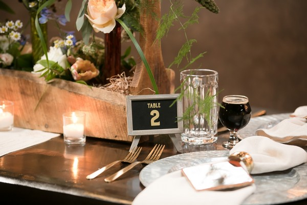 Small wedding table number