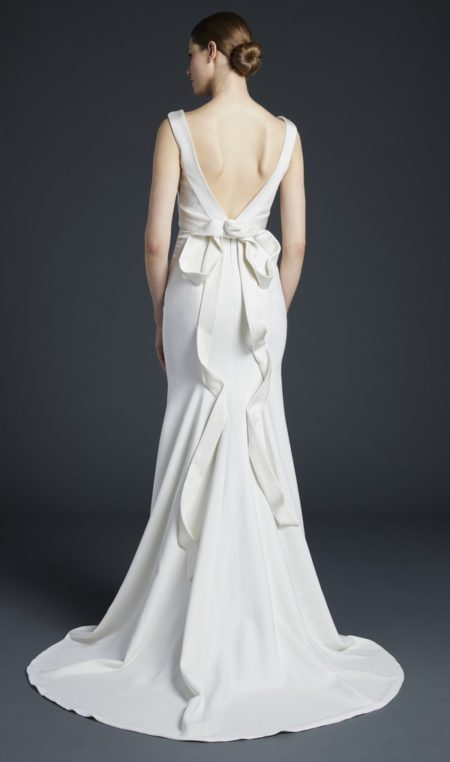 Back of Baird Wedding Dress from the Anne Barge Fall 2019 Bridal Collection