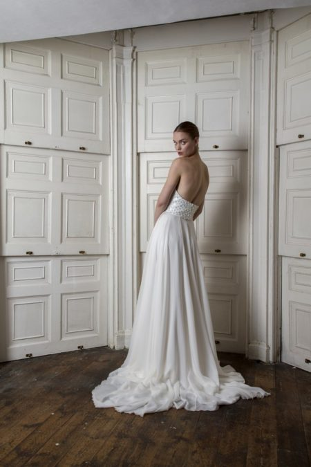 Back of Bloomsbury Corset with Peter Skirt from the Halfpenny London The Air That We Breathe 2019 Bridal Collection