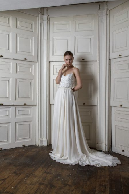 Bloomsbury Corset with Peter Skirt from the Halfpenny London The Air That We Breathe 2019 Bridal Collection
