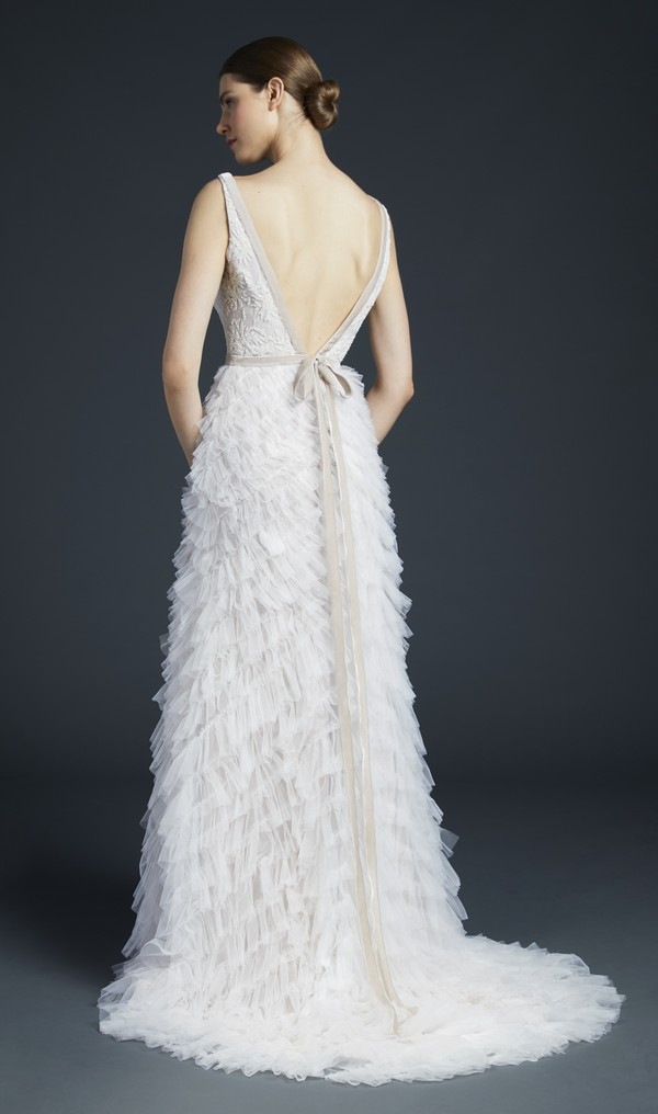 Back of Bolta Wedding Dress from the Anne Barge Fall 2019 Bridal Collection