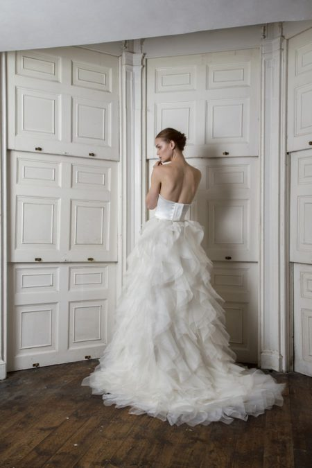 Back of Breeze Corset with Riri Skirt from the Halfpenny London The Air That We Breathe 2019 Bridal Collection