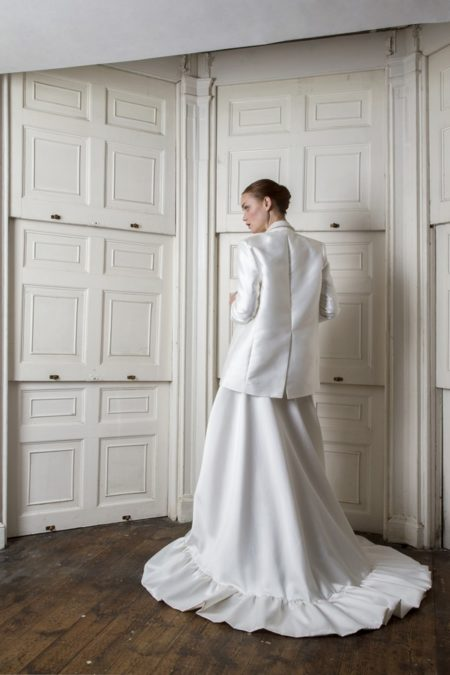 Back of Breeze Dress with Neptune Blazer from the Halfpenny London The Air That We Breathe 2019 Bridal Collection