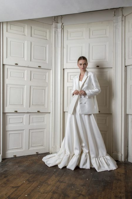 Breeze Dress with Neptune Blazer from the Halfpenny London The Air That We Breathe 2019 Bridal Collection