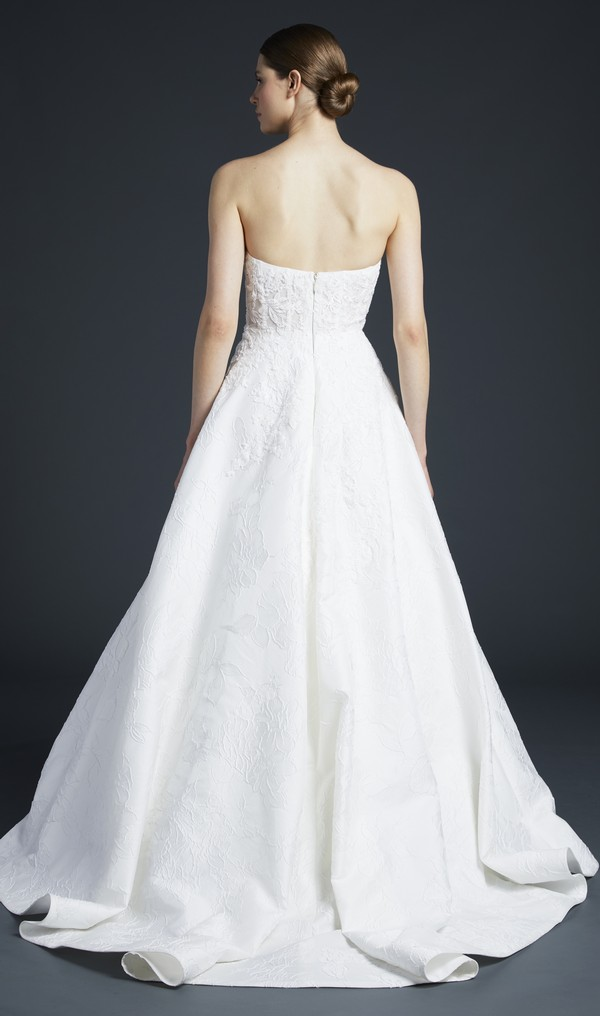 Back of Burton Wedding Dress from the Anne Barge Fall 2019 Bridal Collection