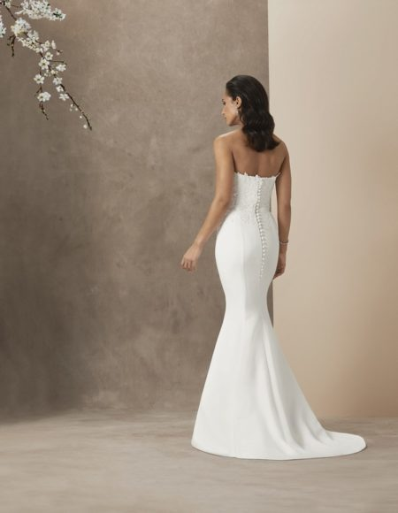 Back of Cara Wedding Dress from the Caroline Castigliano The Power of Love 2019 Bridal Collection