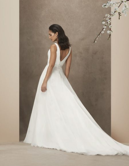 Back of Chelsea Wedding Dress from the Caroline Castigliano The Power of Love 2019 Bridal Collection