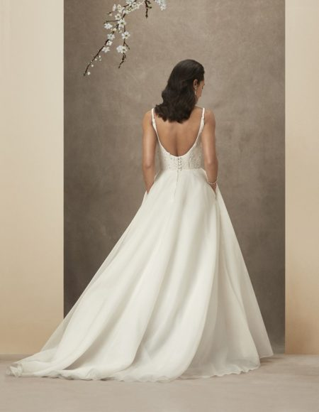 Back of Chrissy Wedding Dress from the Caroline Castigliano The Power of Love 2019 Bridal Collection