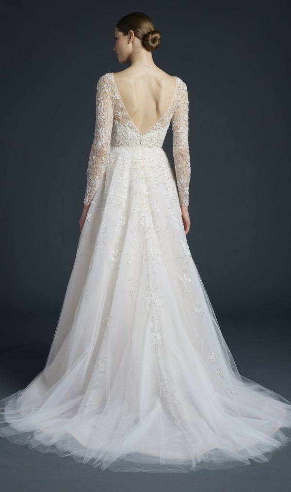 Back of Eames Wedding Dress from the Anne Barge Fall 2019 Bridal Collection