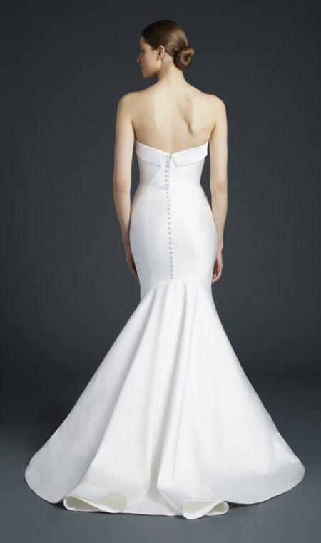 Back of Eiffel Wedding Dress from the Anne Barge Fall 2019 Bridal Collection