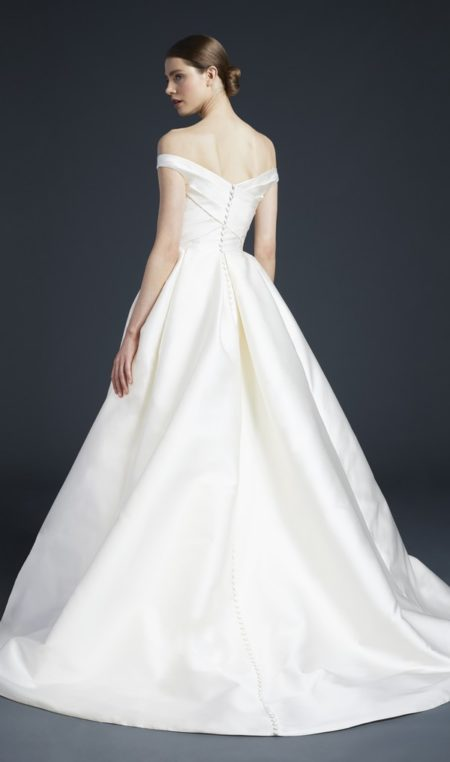 Back of Ellis Wedding Dress from the Anne Barge Fall 2019 Bridal Collection