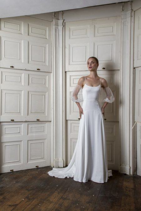 Finsbury Dress with Marylebone Sleeves from the Halfpenny London The Air That We Breathe 2019 Bridal Collection