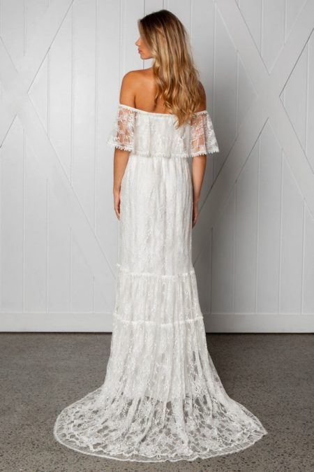 Back of Franca Wedding Dress from the Grace Loves Lace Icon 2018 Bridal Collection