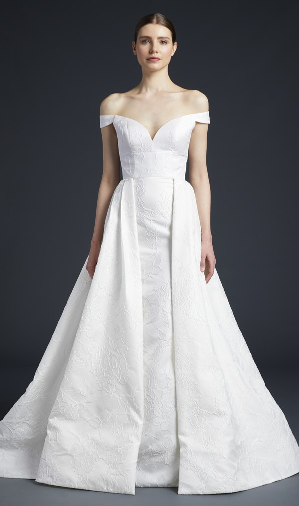 Frankie Wedding Dress with Train from the Anne Barge Fall 2019 Bridal Collection