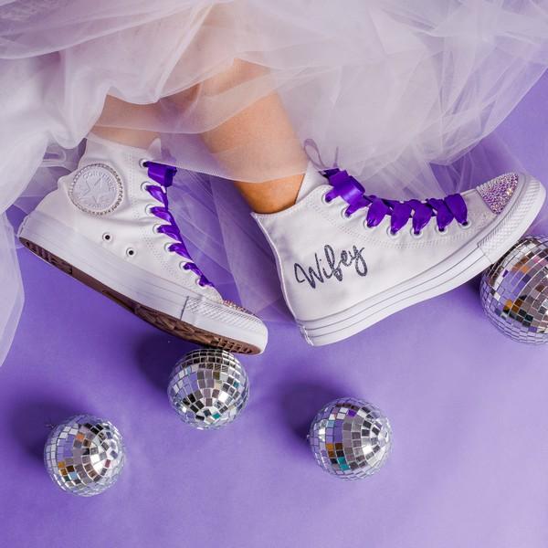 Glitter Wifey Converse
