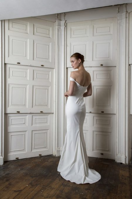 Back of Harbour Dress from the Halfpenny London The Air That We Breathe 2019 Bridal Collection