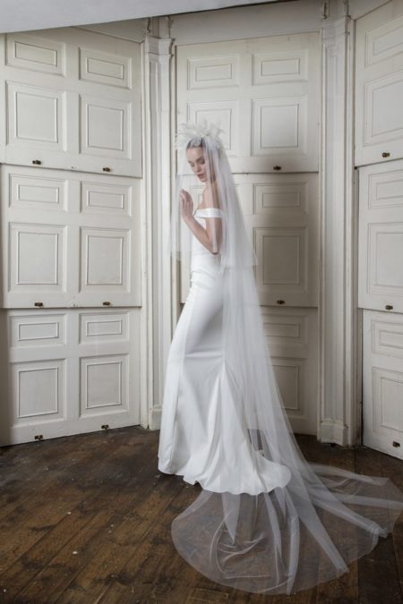 Harbour Dress with Bloomsbury Veil from the Halfpenny London The Air That We Breathe 2019 Bridal Collection