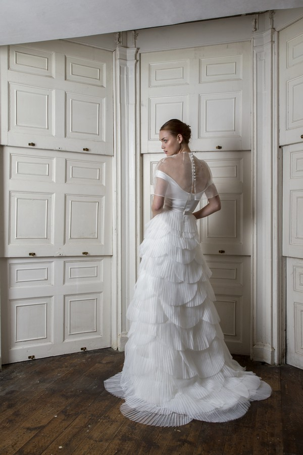 Back of Harbour Top and Cape with Euston Skirt from the Halfpenny London The Air That We Breathe 2019 Bridal Collection