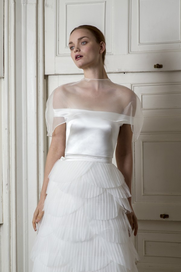 Harbour Top and Cape with Euston Skirt from the Halfpenny London The Air That We Breathe 2019 Bridal Collection