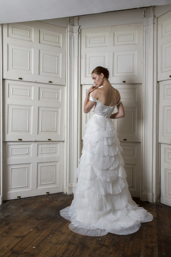 Back of Harbour Top with Euston Skirt from the Halfpenny London The Air That We Breathe 2019 Bridal Collection