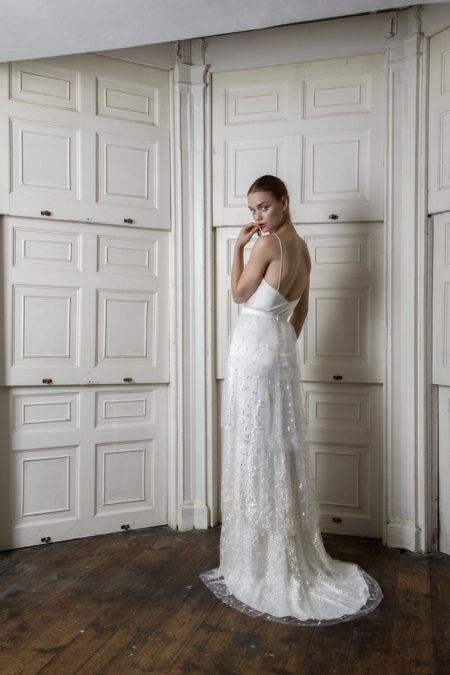 Back of Iris Cami with Camden Skirt from the Halfpenny London The Air That We Breathe 2019 Bridal Collection