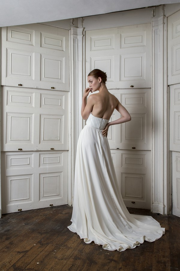 Back of Ladbroke Corset and Skirt from the Halfpenny London The Air That We Breathe 2019 Bridal Collection