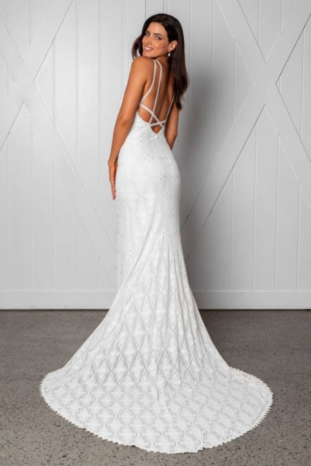Back of Leon Wedding Dress from the Grace Loves Lace Icon 2018 Bridal Collection