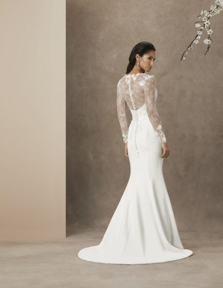 Back of Love Heart Wedding Dress from the Caroline Castigliano The Power of Love 2019 Bridal Collection