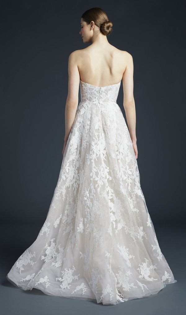 Back of Luca Wedding Dress from the Anne Barge Fall 2019 Bridal Collection