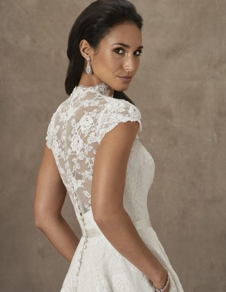 Back of Madeira Wedding Dress from the Caroline Castigliano The Power of Love 2019 Bridal Collection
