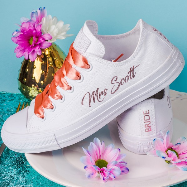 Metallic Mrs Converse Personalised Wedding Trainers