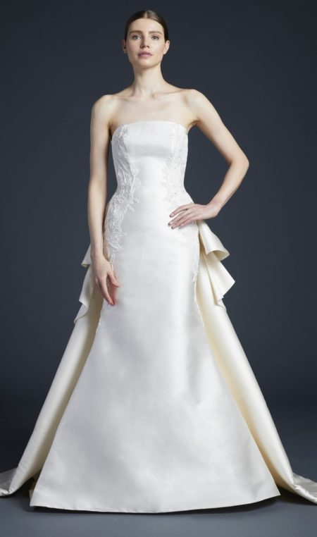 Nash Wedding Dress with Train from the Anne Barge Fall 2019 Bridal Collection