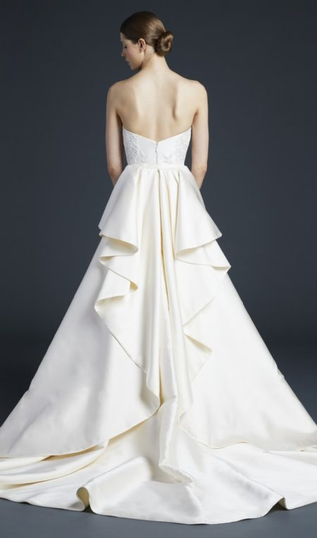 Back of Nash Wedding Dress with Train from the Anne Barge Fall 2019 Bridal Collection