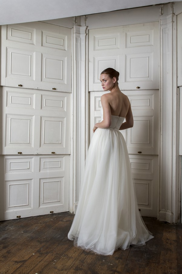 Back of Oliver Dress with Dita Unlined Skirt from the Halfpenny London The Air That We Breathe 2019 Bridal Collection