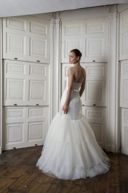Back of Oliver Dress with Woburn Skirt from the Halfpenny London The Air That We Breathe 2019 Bridal Collection