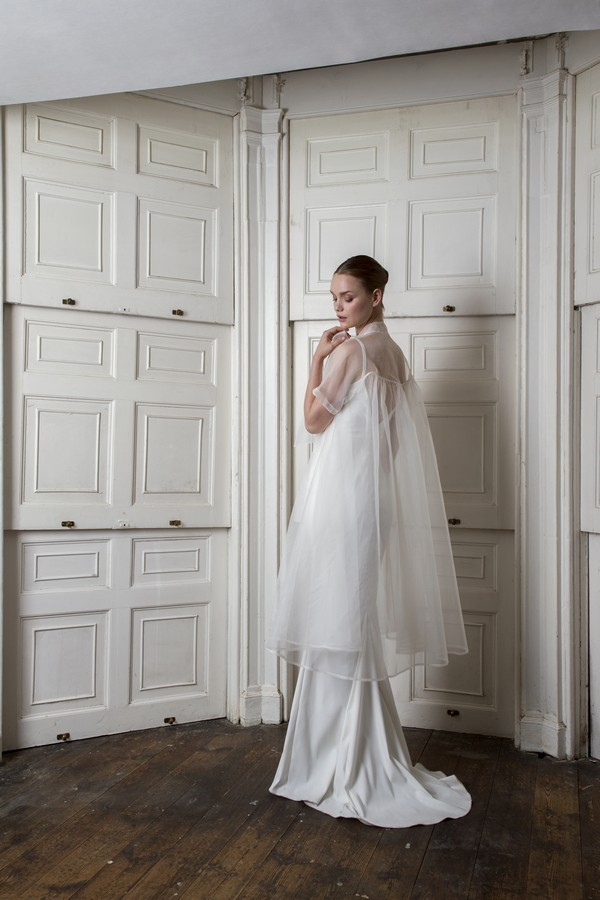 Back of Organza Bow Coat with Victor Dress