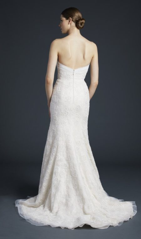 Back of Palladio Wedding Dress from the Anne Barge Fall 2019 Bridal Collection