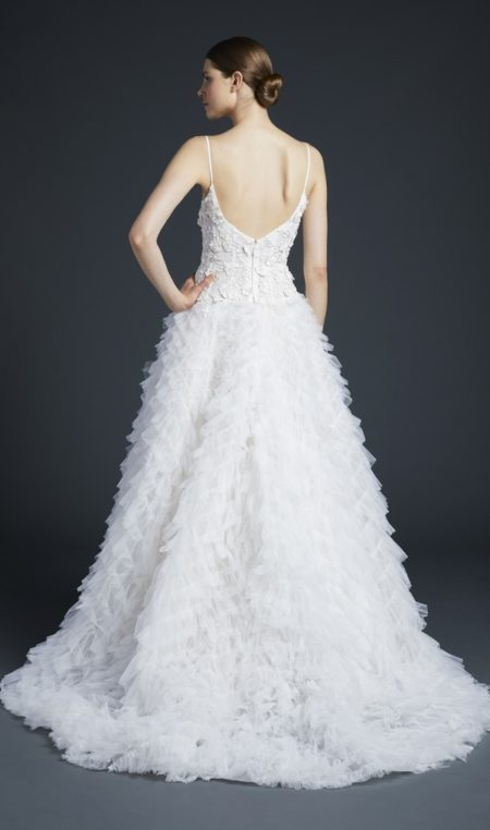 Back of Paxton Wedding Dress from the Anne Barge Fall 2019 Bridal Collection