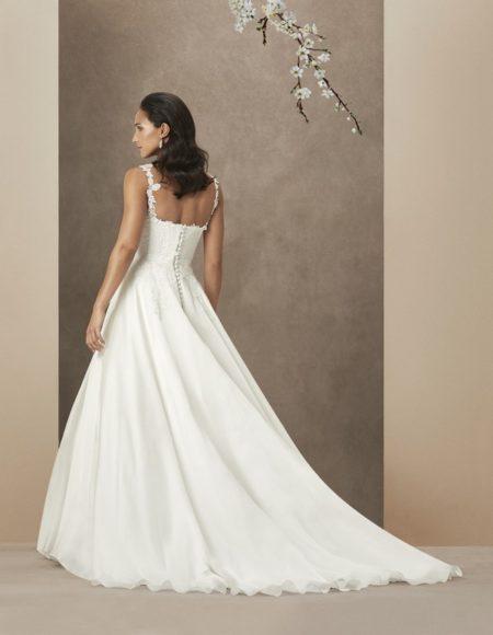 Back of Santa Barbara Wedding Dress from the Caroline Castigliano The Power of Love 2019 Bridal Collection