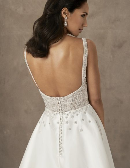 Back of Society Girl Wedding Dress from the Caroline Castigliano The Power of Love 2019 Bridal Collection