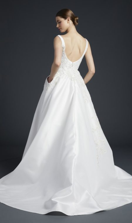 Back of Venturi Wedding Dress from the Anne Barge Fall 2019 Bridal Collection