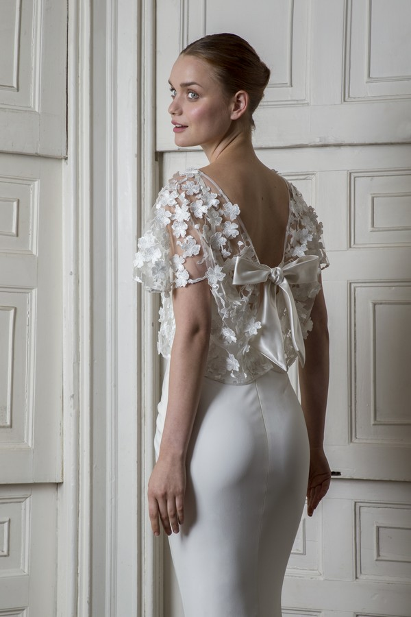 Back of Victor Dress with Berwick Top from the Halfpenny London The Air That We Breathe 2019 Bridal Collection