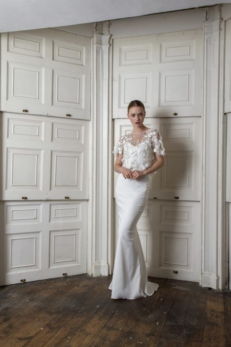 Victor Dress with Berwick Top from the Halfpenny London The Air That We Breathe 2019 Bridal Collection