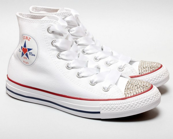 Converse Trainers with Wedding Date Logo