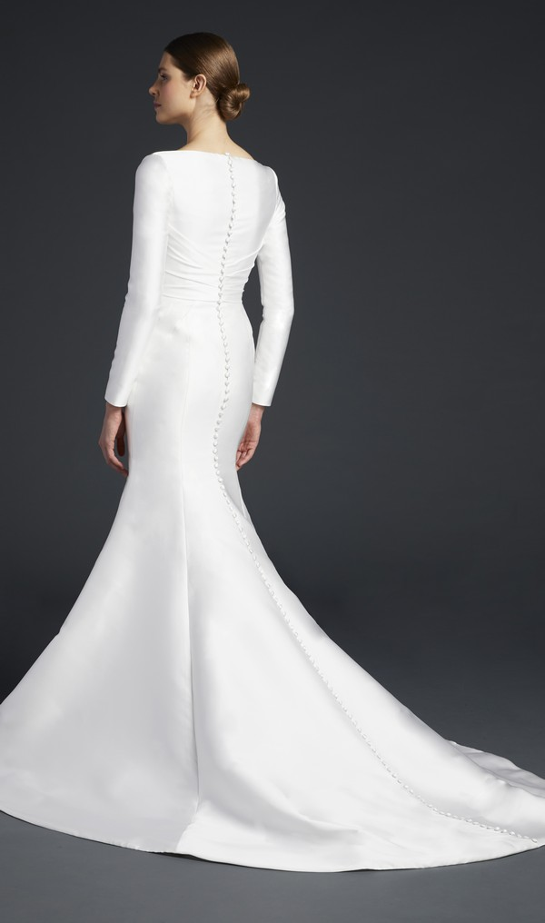 Back of Windsor Wedding Dress from the Anne Barge Fall 2019 Bridal Collection