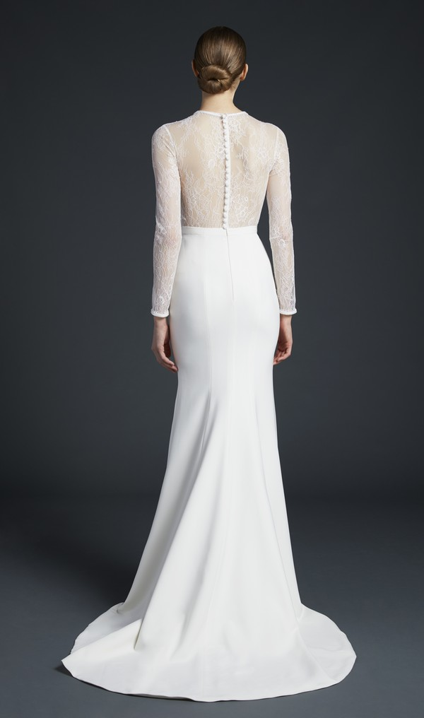 Back of Zaha Wedding Dress from the Anne Barge Fall 2019 Bridal Collection