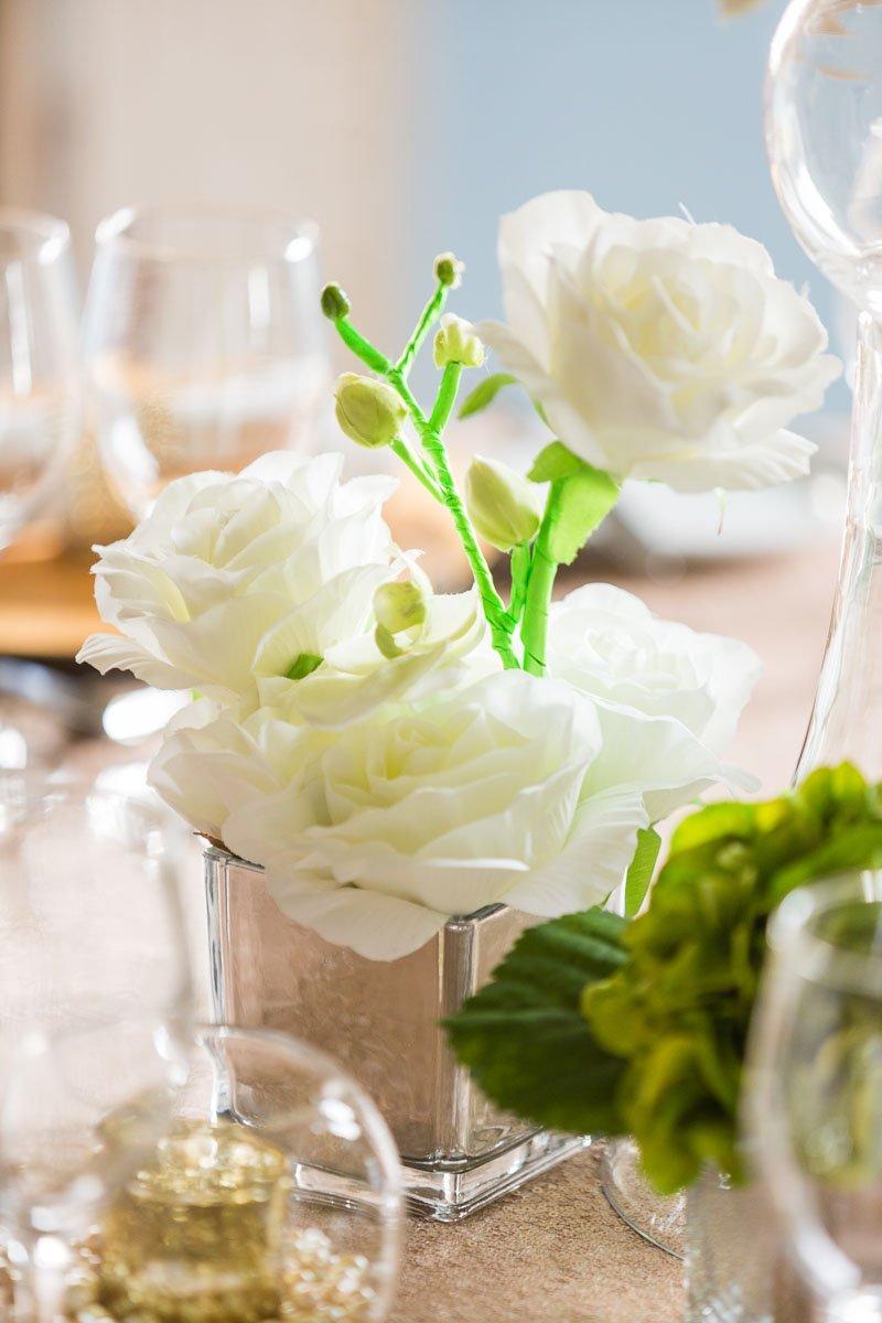 Neon stalks on wedding flowers